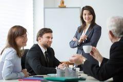 Brainstorming podczas biznesowego spotkania Zdjęcia Stock