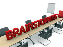 Brainstorming and room Royalty Free Stock Photography