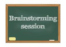 Brainstorming session chalkboard notice Vector illustration royalty free illustration