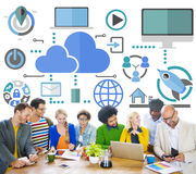 Brainstorming Sharing Online Global Communication Cloud Concept Stock Photos
