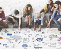Brainstorming-Strategie-Brainstormings-Symbol-Konzept Stockfoto