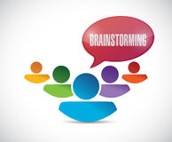 Brainstorming team illustration design Royalty Free Stock Photos