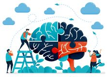 Free Brainstorming To Solve Brain Puzzles. Metaphor For Teamwork And Collaboration. Intelligence In Handling Challenges And Problems. Stock Photos - 165707953