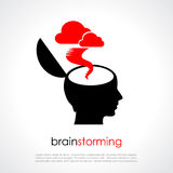 Brainstorming. Vector poster with copy space vector illustration