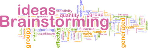 Brainstorming word cloud Royalty Free Stock Images