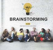 Brainstorming zdolność Tworzy Kreatywnie pomysłu pojęcie obrazy stock
