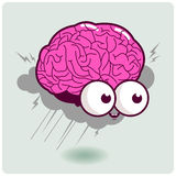 Brainstormingcharakter Stockfoto