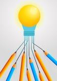 Brainstroming для идеи Стоковые Изображения RF