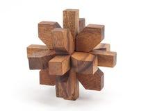 brainteaser drewniany Fotografia Stock