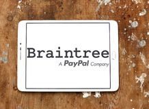 Braintree payment company logo. Logo of Braintree payment company on samsung tablet. Braintree, a division of PayPal, is a company based in Chicago that Stock Photography
