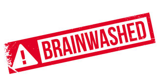 Brainwashed rubber stamp Stock Photo