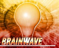 Brainwave Abstract concept digital illustration Royalty Free Stock Photography