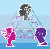 Brainwave connection. Illustration clip-art vector eps Royalty Free Stock Photos
