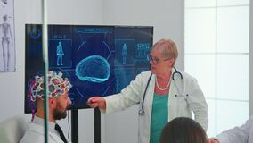 Brainwave electroencephalograph examination in hospital