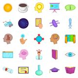 Brainwave icons set, cartoon style. Brainwave icons set. Cartoon set of 25 brainwave vector icons for web isolated on white background Royalty Free Stock Image