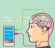 Brainwave Monitoring Vector Stock Images