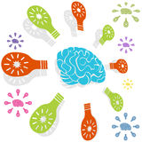 Brainy Idea Circle Stock Image