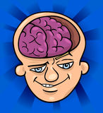 Brainy man cartoon illustration Royalty Free Stock Photo