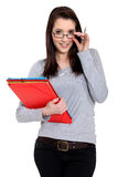 Brainy university student Stock Image
