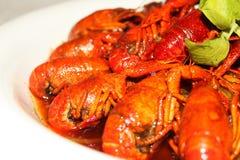 Braise in soy sauce crayfish. Chinas secret food Stock Image
