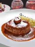 Braised томатный соус вина хвостовика w/Red телятины Стоковое Изображение RF