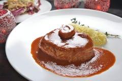 Braised томатный соус вина хвостовика w/Red телятины Стоковые Фотографии RF