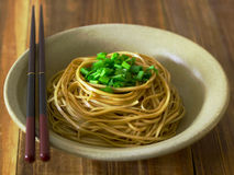 Braised asian noodles Royalty Free Stock Image