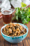 Braised baranek z chickpeas obraz stock