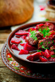 Braised beef with beet. Stock Images