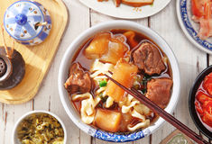 Braised beef noodles. A popular food in Taiwan royalty free stock images