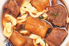 Braised beef noodles. A popular food in Taiwan royalty free stock photo