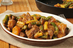 Braised beef and potatoes Stock Image