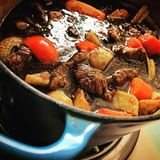Braised beef in soya sauce. Stock Image