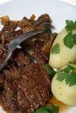 Braised beef stew steak dinner Stock Photo