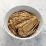 Braised bobowy curd w soya kumberlandzie Zdjęcia Stock