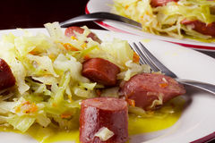 Braised cabbage Stock Photography