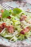 Braised cabbage with bacon and thyme Royalty Free Stock Image