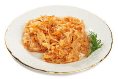 Braised cabbage with carrots and seasonings Stock Photo