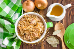 Braised cabbage with meat Royalty Free Stock Photo