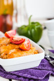 Braised cabbage with meat and rice in tomato sauce Royalty Free Stock Photos