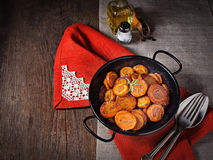 Braised carrot with thyme, vegetarian dish Stock Photos