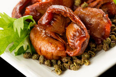 Braised chicken gizzard Royalty Free Stock Images