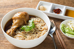 Braised chicken noodle soup Thai style. Royalty Free Stock Photos