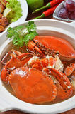 BRAISED CRAB AND CHINESE VERMICELLI Royalty Free Stock Photography