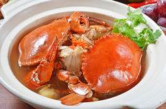 BRAISED CRAB AND CHINESE VERMICELLI Royalty Free Stock Image