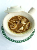 Braised dried fish maw with crab meat soup Stock Image
