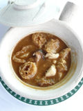 Braised dried fish maw with crab meat soup Stock Photos