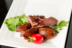 Braised duck gizzard Royalty Free Stock Images