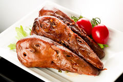 Braised duck heads Royalty Free Stock Images