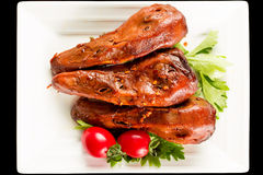 Braised duck heads Stock Image